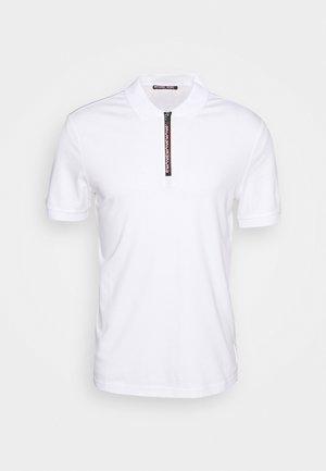 LOGO ZIP - Polo shirt - white