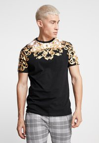 Brave Soul - SCROLL - T-shirt con stampa - black - 0