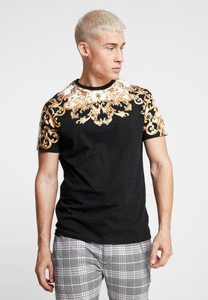 SCROLL - T-shirt z nadrukiem - black