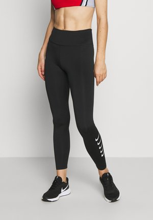 RUN - Legginsy - black/silver