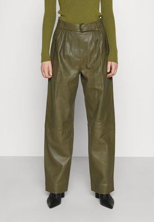 Pantaloni di pelle - green