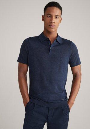 Polo shirt - navy meliert