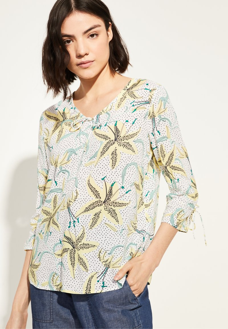 comma casual identity - Blouse - white flowers & dots