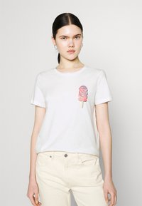 Vero Moda - VMGALAFRANCIS BOX - Print T-shirt - snow white - 0