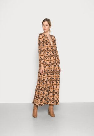 JULIA BATIK DRESS - Maxi dress - brown