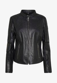 TONYA - Leather jacket - black