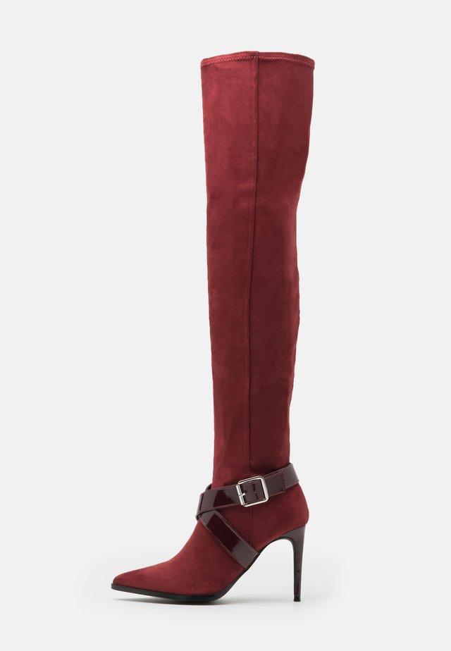 Laarzen met hoge hak - bordeaux