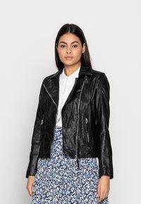 Freaky Nation - ALIET - Leather jacket - black - 0