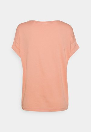 ROUNDNECK TURN UP SLEEVE - Jednoduché triko - peach bud