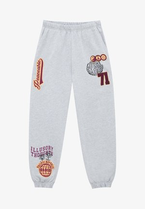 MIT PATCHES - Tracksuit bottoms - grey