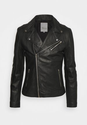 VICK BIKER - Leather jacket - black