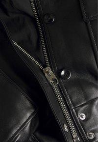 Proenza Schouler White Label - JACKET - Kožená bunda - black - 2