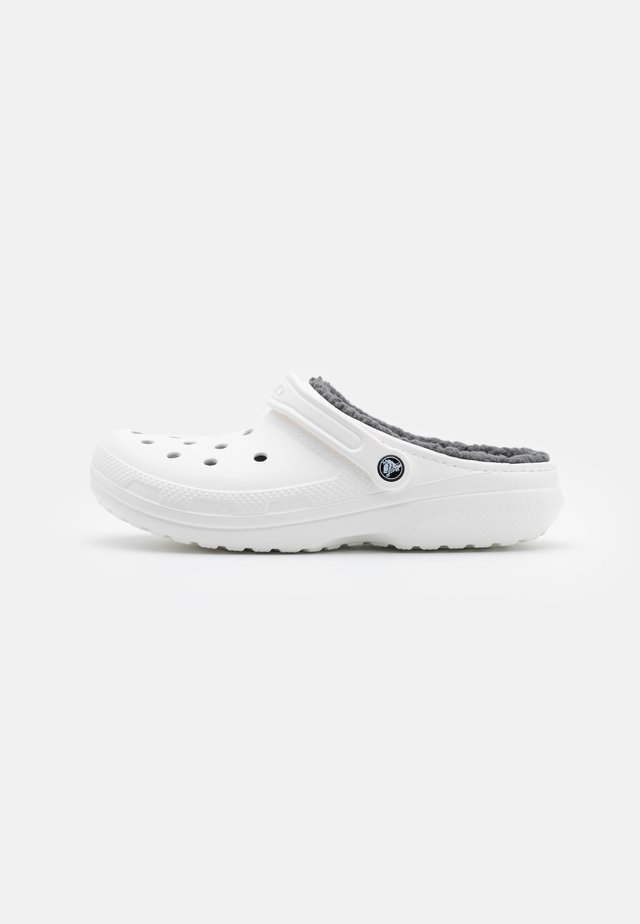 CLASSIC LINED - Pantuflas - white/grey