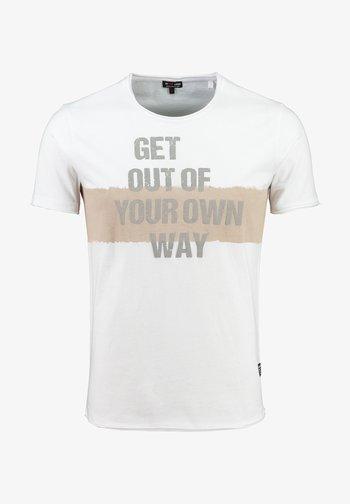 Print T-shirt - white-sand