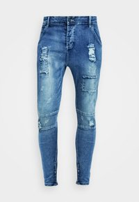 SIKSILK - PATCHWORK - Jeans Skinny Fit - washed blue - 3