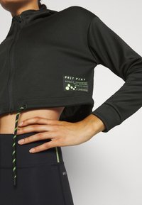 ONLY Play - ONPJUDIE CROPPED ZIP HOOD - Training jacket - black - 4
