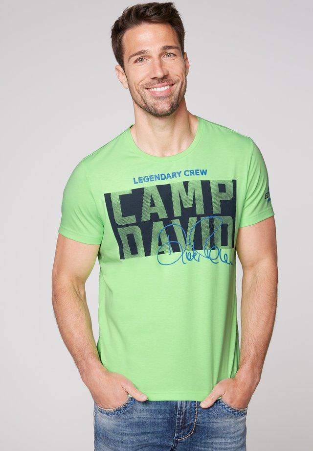 Print T-shirt - neon green