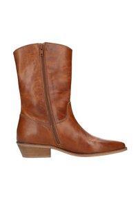 Manfield - Cowboy/biker ankle boot - cognac - 4