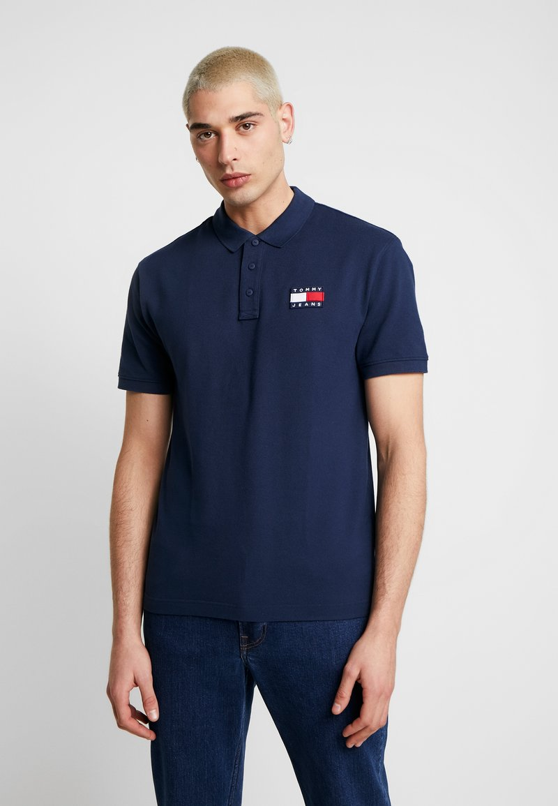 Tommy Jeans - BADGE - Polo shirt - black iris