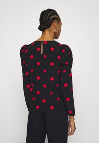 Dorothy Perkins - SPOT STABLE PUFF LONG SLEEVE - Long sleeved top - red - 2