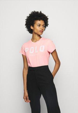 Print T-shirt - garden pink
