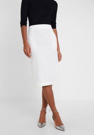 RILAKA - Pencil skirt - natural