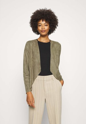 Faux leather jacket - dusty olive