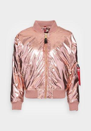 METALLIC - Zimní bunda - rose copper