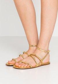 Pura Lopez - Sandals - mirror gold - 0