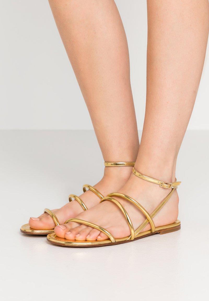 Pura Lopez - Sandals - mirror gold