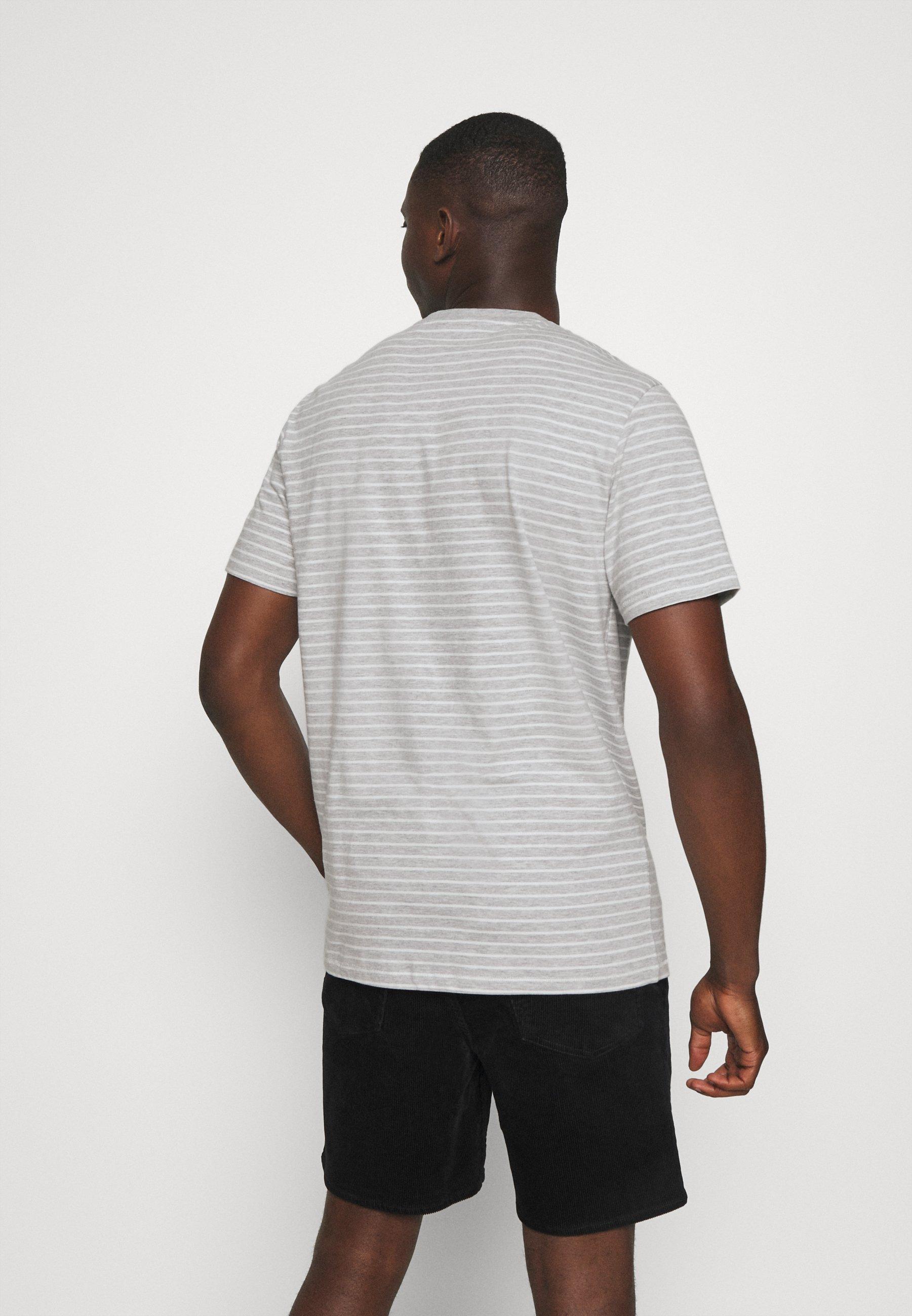 Only & Sons ONSMICK LIFE STRIPE TEE - Print T-shirt - light grey vJBCK