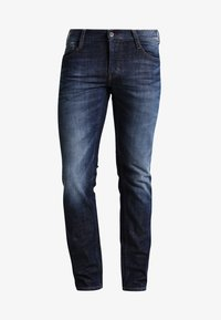 OREGON TAPERED - Jeans Tapered Fit - dark rinsed used
