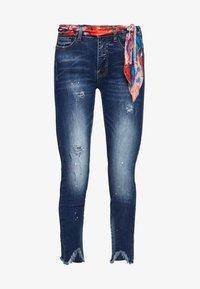 Desigual - RAINBOW - Slim fit jeans - denim dark blue - 5