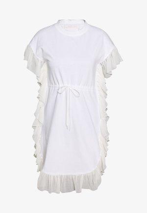 Sukienka z dżerseju - white powder