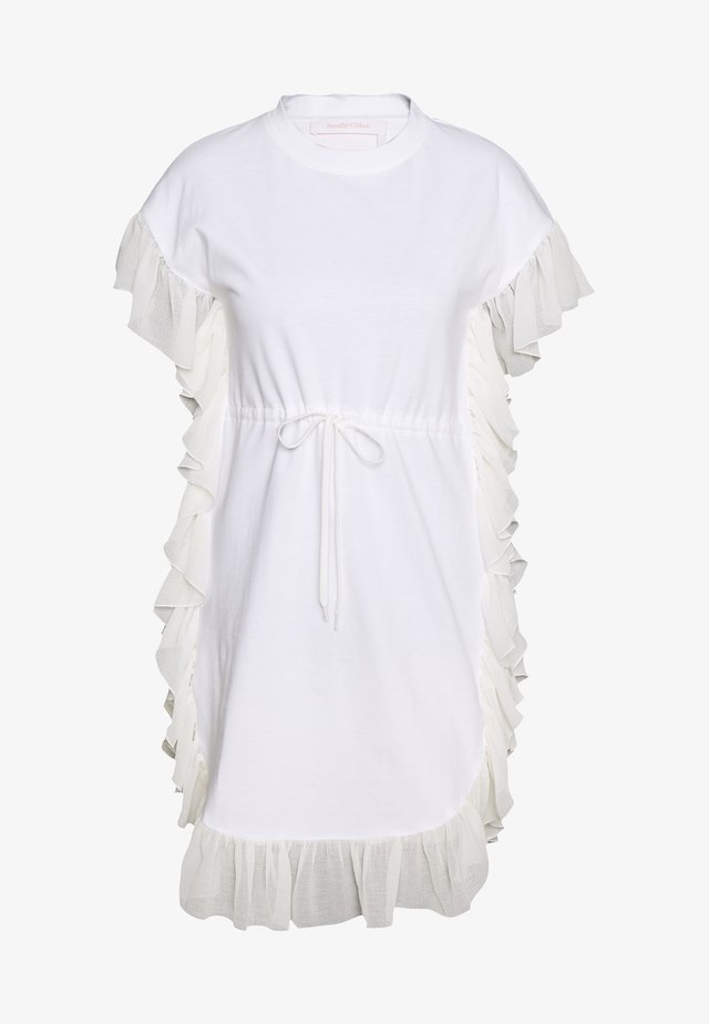 Robe en jersey - white powder