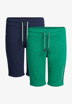 2 PACK - Shorts - green/ dark blue