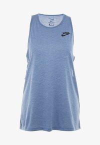 Nike Performance - YOGA TANK KEYHOLE - T-shirt de sport - mystic navy/heather/black - 5