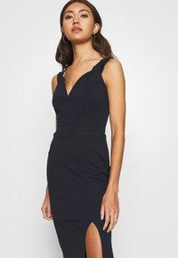 WAL G. - BARDOT MAXI DRESS - Vestido de fiesta - navy blue - 4