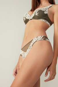 Intimissimi - PRETTY FLOWERS - Thong - olive - 2