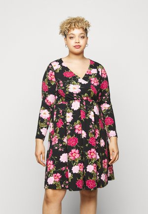 WRAP FLORAL PRINT DRESS - Jersey dress - multi