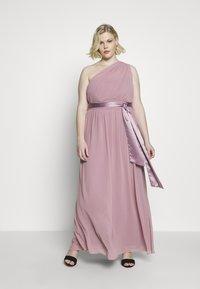 Dorothy Perkins Curve - SADIE SHOULDER DRESS - Společenské šaty - dark rose - 0