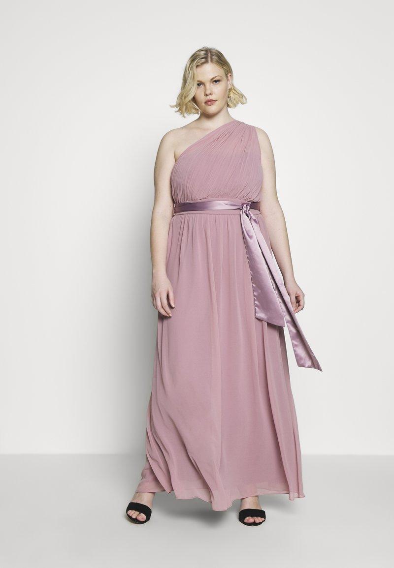 Dorothy Perkins Curve - SADIE SHOULDER DRESS - Společenské šaty - dark rose