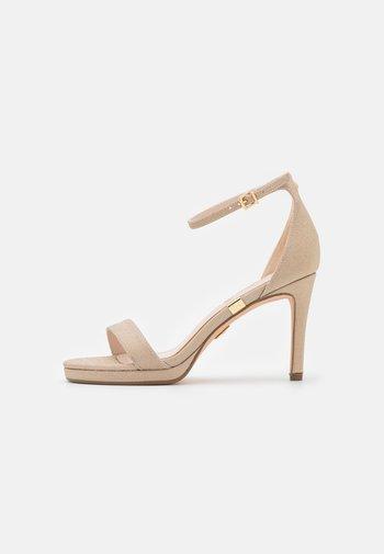 VEGAN MONROE - Sandaler med høye hæler - gold