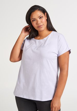 Print T-shirt - light purple