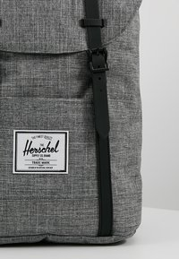 Herschel - RETREAT - Rucksack - raven crosshatch / black rubber - 7
