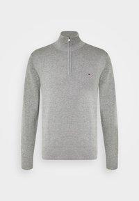 BLEND ZIP MOCK - Jumper - grey