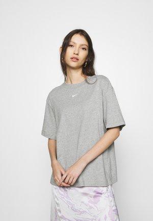 Basic T-shirt - dark grey heather/white