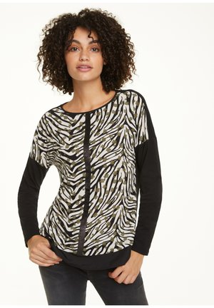 Long sleeved top - khaki zebra and flower
