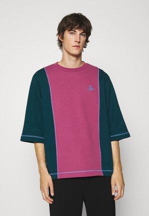 SLOUNGE - Sweatshirt - green/pink