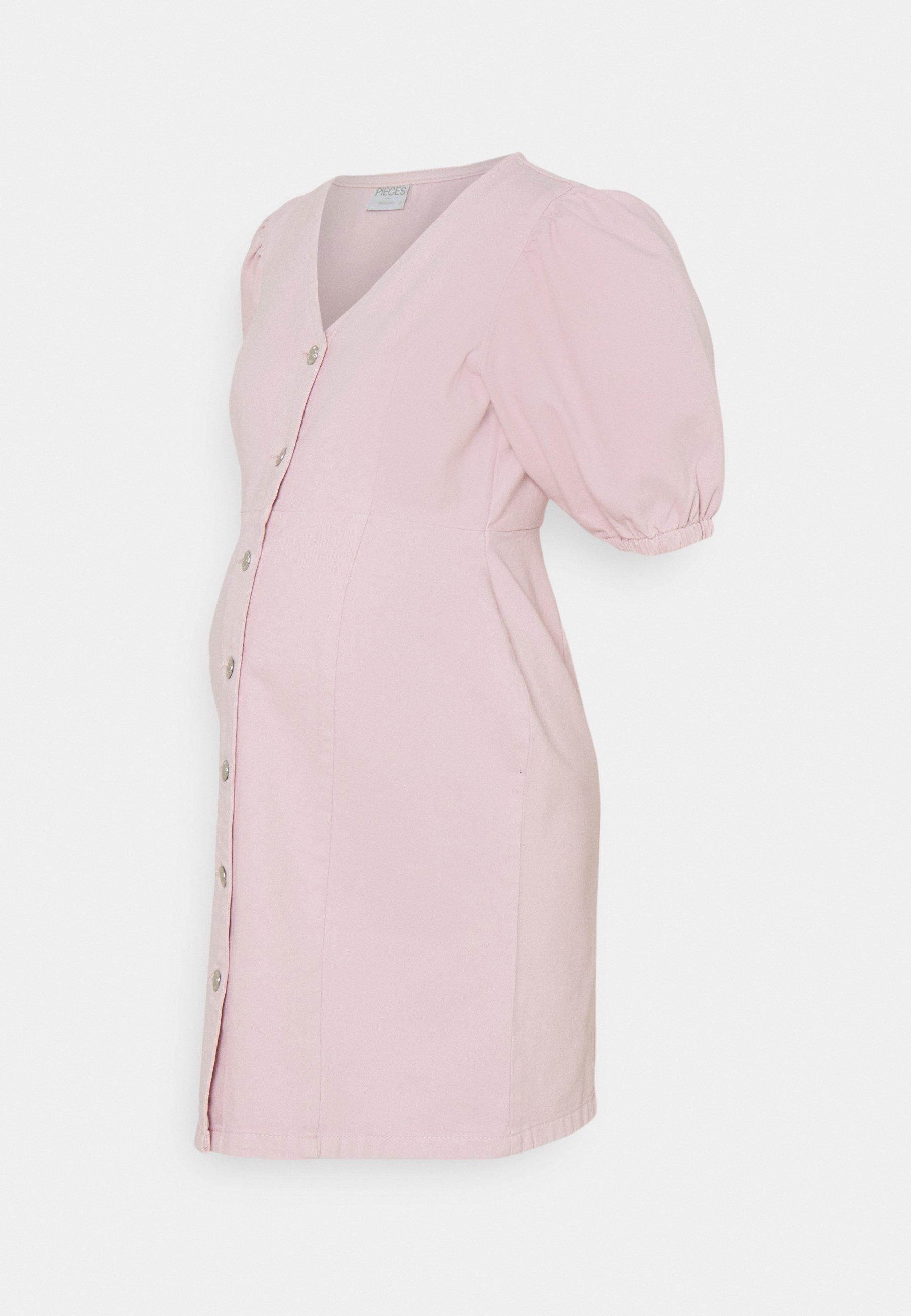 Women PCMGILI VNECK DRESS - Denim dress